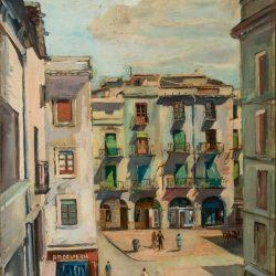 Sense títol [Vista de la plaça de l'Ajuntament de Figueres]