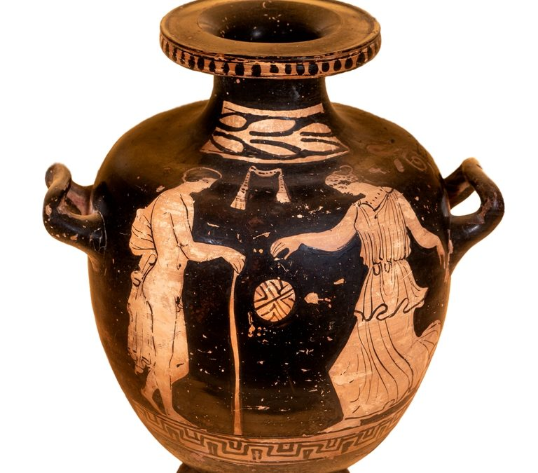 Hídria; ceràmica àtica de figures roges