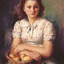 Nena amb pomes