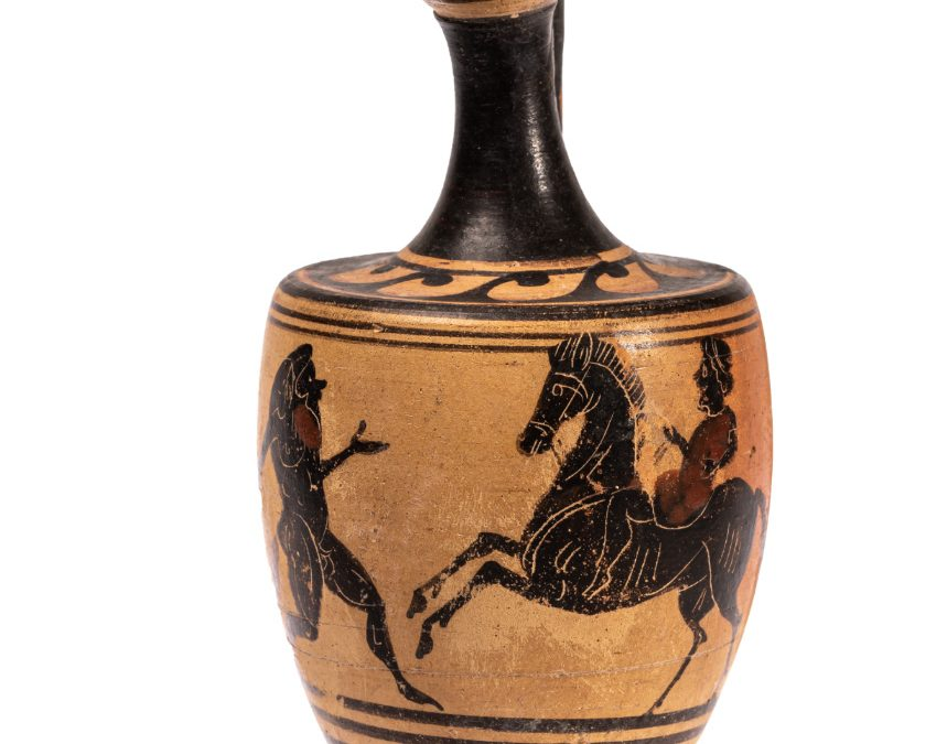 Lècit; ceràmica àtica de figures negres