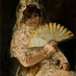 Retrat de noia amb mantellina