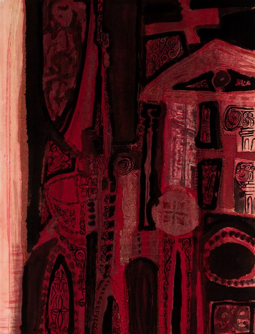 Altar barroc en vermells