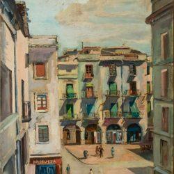 Vista de la plaça de l'Ajuntament de Figueres