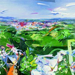 """Herba-cel enmig de la plana. Figueres escolta el vent mirant el mar. De la sèrie """"Suite Figarias"""""""